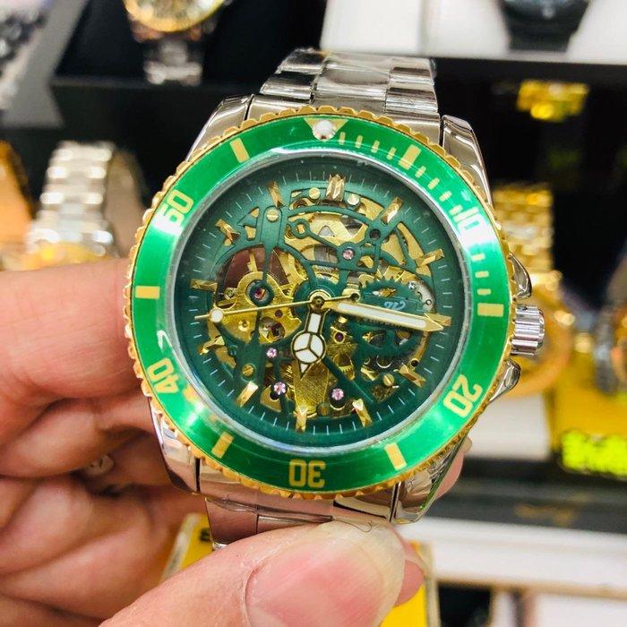 新款 經典水鬼系列 機械感鏤雕面 自動機械錶 時尚百搭款 父親節 朋友 送禮首選