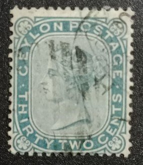 1877年 英屬錫蘭 維多利亞女王郵票32cents