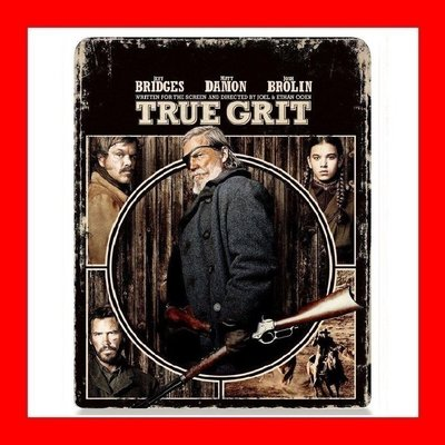 【BD藍光】真實的勇氣:限量凹凸設計鐵盒版True Grit(英文字幕)-神鬼認證 麥特戴蒙