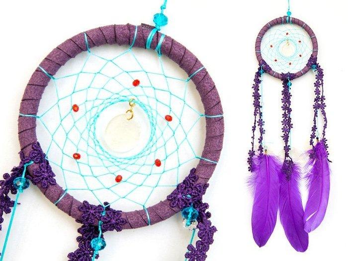 捕夢網 DIY材料包✿紫+藍色✿經典款『繼承者們款式』聖誕節禮物、情人節禮物、交換禮物、生日禮物、畢業禮物