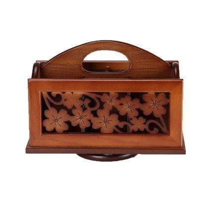 【格倫雅】^實木質遙控盒 遙控器收納盒 辦公桌面多功能收納盒15656[g-l-y63