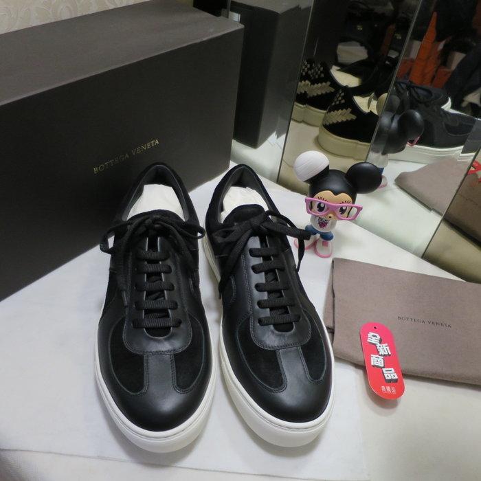 典精品名店 Bottega Veneta BV 全新 真品 黑色 編織 休閒鞋 平底鞋 尺寸 42.5