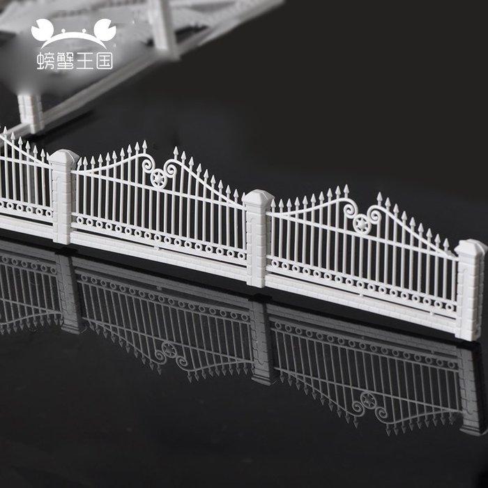 滿250發貨)SUNNY雜貨-精美模型籬笆別墅護欄白色花園柵欄別墅圍欄花圃欄柵PVC塑鋼柵欄#模型#建築材料#DIY