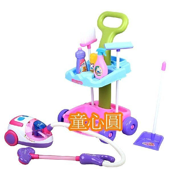 仿真吸塵器推車清潔工具組◎童心玩具1館◎