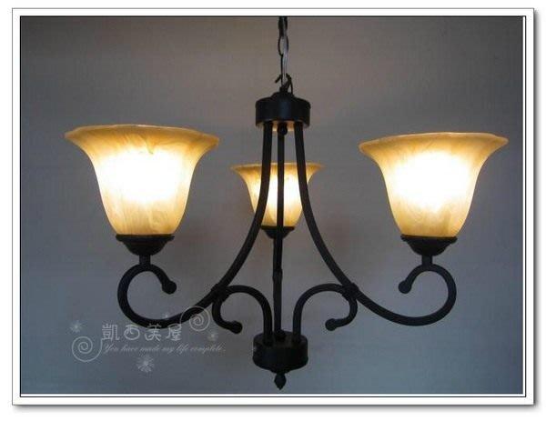 凱西美屋 歐式羅切特復古鍛鐵三燈 鄉村風吊燈
