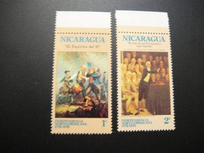 【大三元】美洲郵票-尼加拉瓜郵票-議事系列-新票2枚-原膠