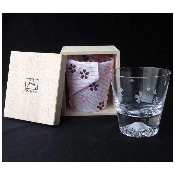 日本製 江戶硝子/田島硝子 限量櫻花款 富士山杯 威士忌杯(矮款) 100%正品 附包巾