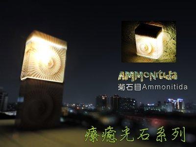 療癒系列古代菊石-簡約太陽能燈,智能光控太陽能LED壁燈,露營燈,籬笆燈,圍墻燈,掛燈,庭院燈,走道燈