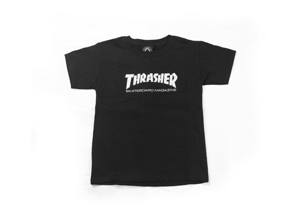 THRASHER 美線 青年童裝 Youth Kid Skate mag - Black【HopesTaiwan】