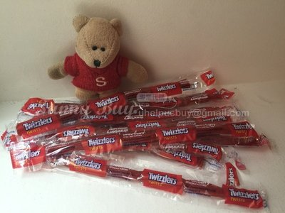 【Sunny Buy】◎現貨優惠◎ 美國 Twizzlers 草莓口味 扭扭糖 蠟燭糖 吸管糖 暮光之城 (10枝一組)