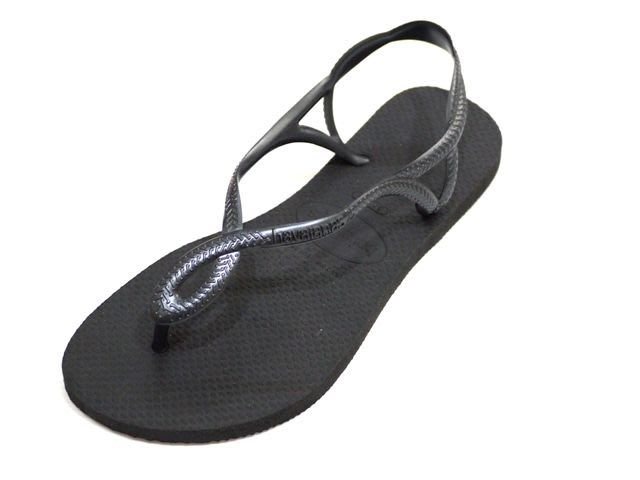 [Ralvi]全新超值Havaianas(哈瓦仕)LUNA 黑色 涼鞋系列 巴西夾腳拖/人字拖/拖鞋(女款)