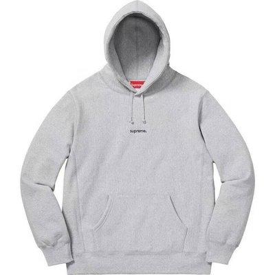 【Lydia代購】 Supreme 18FW Trademark Hooded Sweatshirt 小刺繡 長袖 連帽 帽TEE