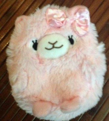 《限量》全新日本帶回治愈系粉紅羊駝草泥馬 背包款零錢包