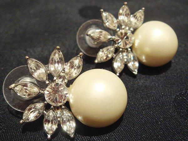 美國帶回,全新從未戴過 CAROLEE 仿珍珠閃鑽穿式耳環,低價起標無底價!本商品免運費!