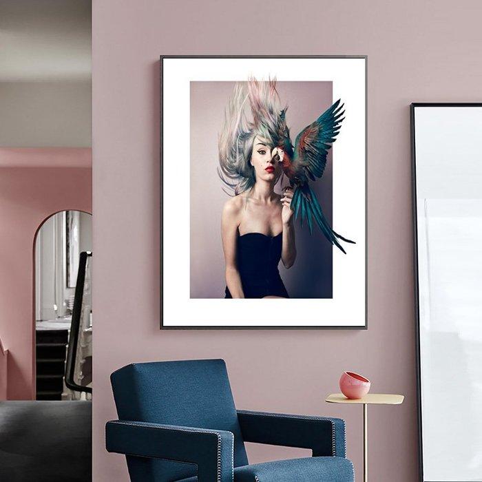 簡約現代藝術抽像個性人物意境客廳裝飾畫畫芯高清打印掛畫(3款可選)