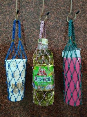 手作編織環保飲料提袋 杯袋 保溫瓶袋 水壺袋 便當袋