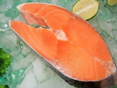 鮮凍鮭魚片 360g~【鼎鮮市集】鱈魚,鮭魚,鯖魚,鱈場蟹腳,透抽,干貝,草蝦,牛排