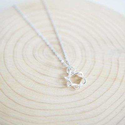 [ Cami Handicraft ] 聖誕六芒星短鏈 - 純銀款 簡約趣味造型 適合日常穿搭