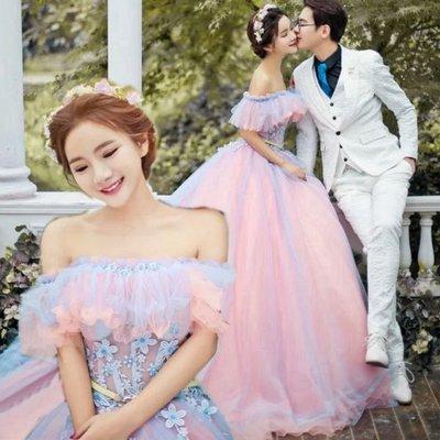 新款婚紗禮服影樓主題服裝情侶寫真外景拍...
