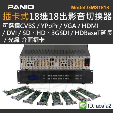 [混搭神器]插卡型混搭訊號切換器RS232 Web App管理內建電視牆拼接功能《✤PANIO國瑭資訊》GMS1818