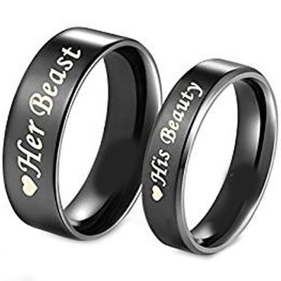 coi jewelry tungsten carbide beauty beast wedding band ring 戒指with all sizes