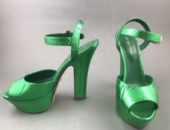[我是寶琪] 侯佩岑二手商品SERGIO ROSSI 綠色高跟鞋
