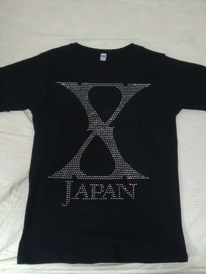 X Japan 2015 Japan Tour週邊 水鑽Logo T Shirt Yoshiki SUGIZO