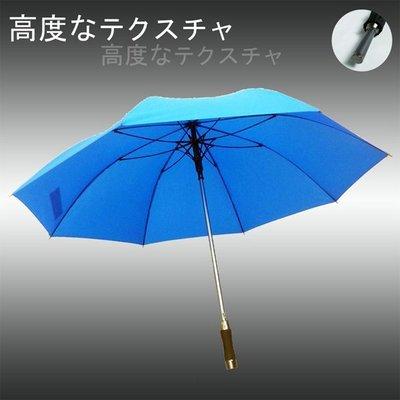 【大型&輕量】質男_Mettle -撥水直立傘/長傘(天藍) /雨傘自動傘防風傘大傘抗UV傘潑水傘陽傘洋傘直傘 (免運)