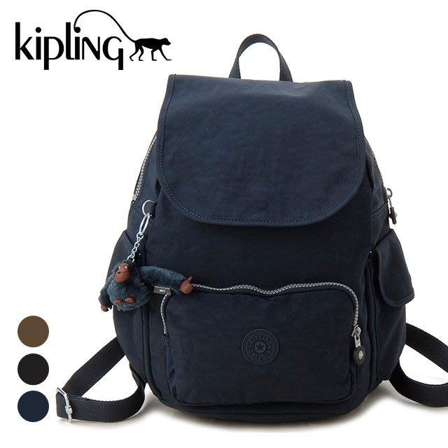 KIPLING CITY PACK S 15635 511 後背包 翻蓋 束口 書包 小猴子♡LUCI日本代購♡