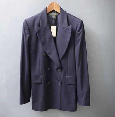 香蕉共和國 BANANA REPUBLIC 全新 女款 海軍藍 純羊毛 西裝外套 6號