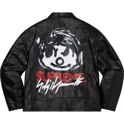 全新商品 Supreme 20FW Leather Jacket 塗鴉 皮衣 外套