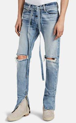 全新商品 FEAR OF GOD FOG 6TH Distressed Slim Belted Jeans 長褲 牛仔褲