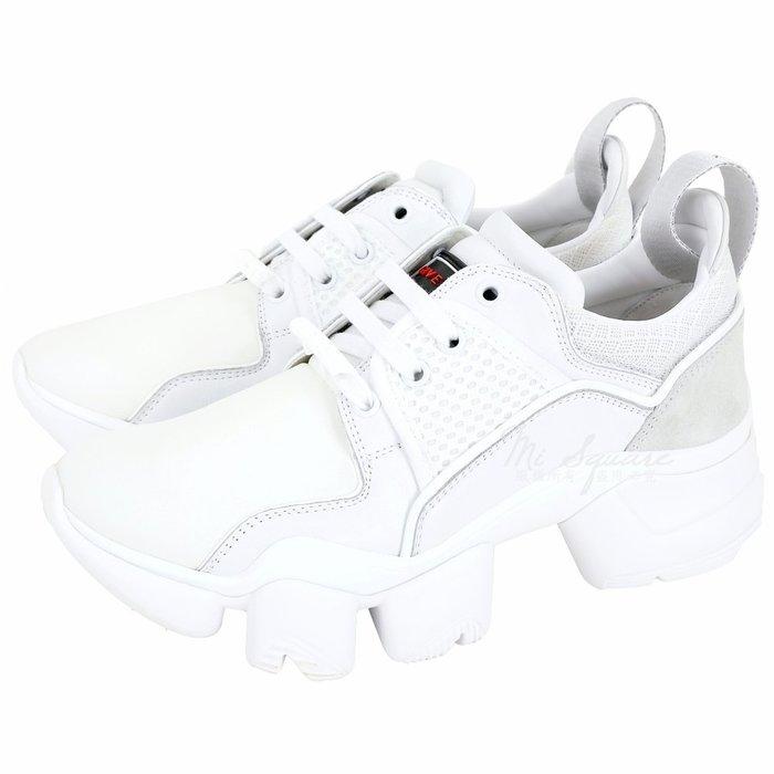 米蘭廣場 GIVENCHY JAW 拼接網布齒紋老爹鞋(經典白) 1920474-20