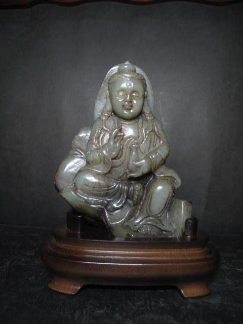 和闐玉雕◎  寶瓶觀音