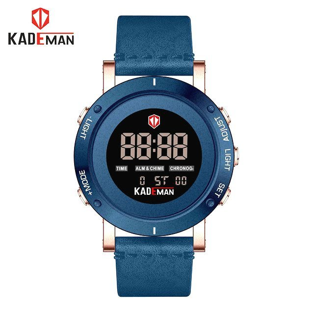 KADEMAN 原廠正品 瑞士潮牌 大錶盤 多功能時間顯示 夜光顯示 日本機芯 簡約時尚型男電子石英腕錶【S & C】