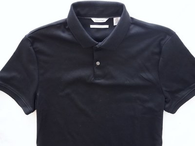 Calvin Klein CK 短袖 POLO 衫 黑色 液態棉 柔軟涼爽 凱文克萊 M【以靡專櫃正品 】