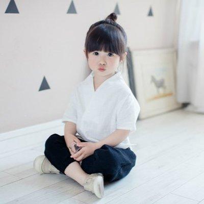寶寶夏季唐裝女男童古裝純棉短袖中國風套裝嬰兒套裝
