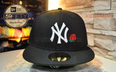 New Era Japan NY Yankees Rose 59Fifty Black NE日本美職紐約洋基黑色玫瑰全封