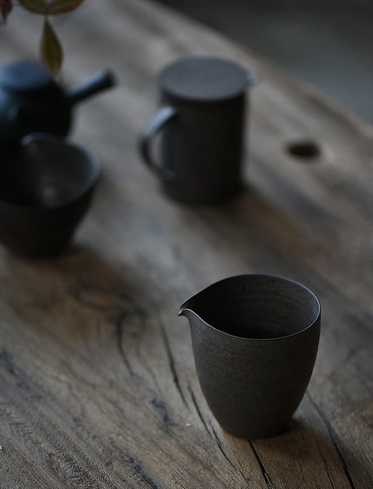 【茶嶺古道】粗陶 窯變金屬釉 茶海(高/矮) 薄胎 鎏金釉 手工製 分茶杯 公道杯 勻杯 功夫茶具