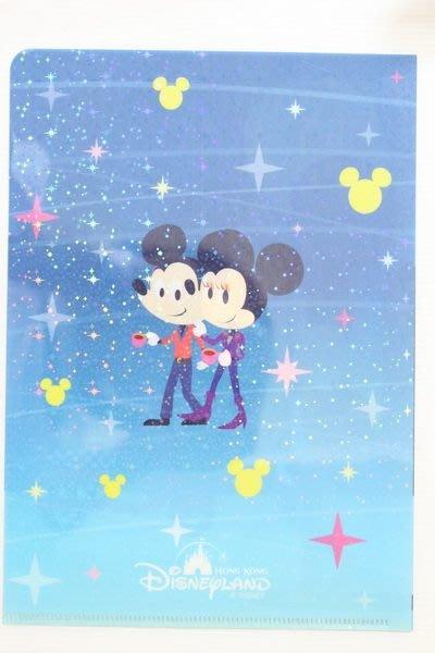 天使熊小鋪~迪士尼帶回米奇A4文件夾 可愛米妮藍色A4資料夾 可愛米奇與機車~