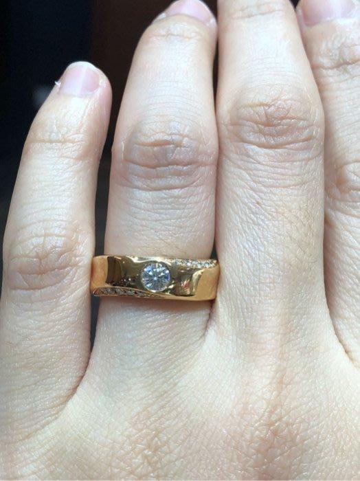 26分天然鑽石戒指,八心八箭鑽石閃亮搭配玫瑰K金戒台厚實簡單設計經典款式,適合平時佩戴,超值優惠價26800