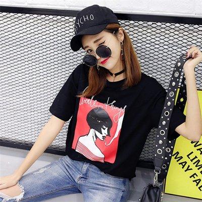 =EZZ=韓國首爾 時尚精品 東大門同步 早班車7100 酷吧T恤 印花T恤 纯棉短袖個性T恤