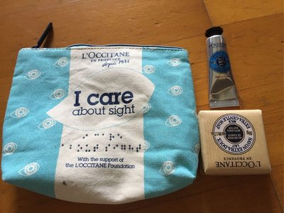 LOCCITANE歐舒丹 extra-gentle soap 歐舒丹限量旅行組 I CARE ABOUT SIGHT易付