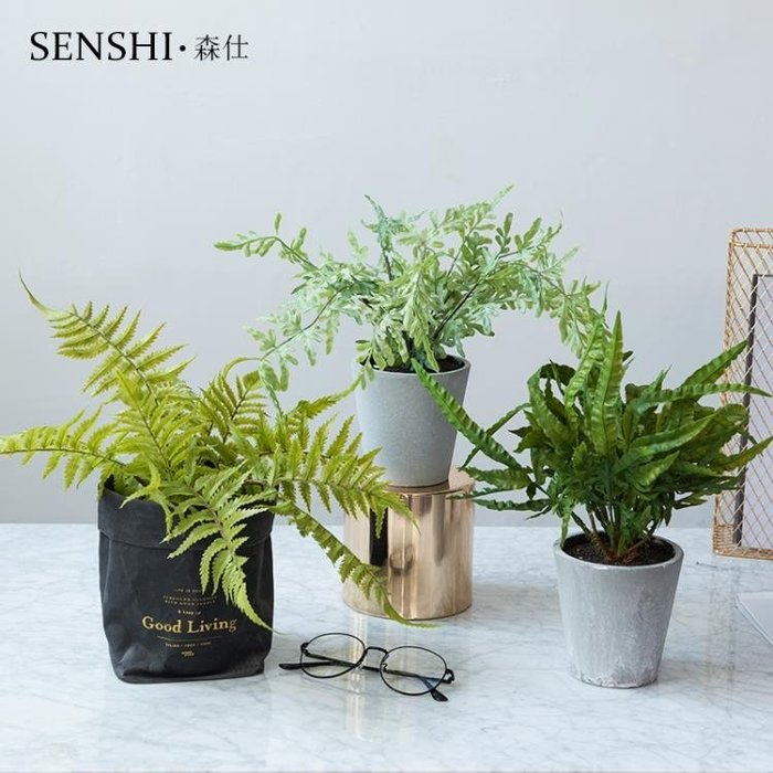 ins北歐創意仿真桌面小盆栽擺件室內辦公室餐廳裝飾綠植物盆景