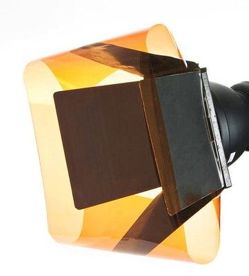 呈現攝影-閃光燈濾色片(Orange1/2橙) A2尺吋 矯色用 色溫片 攝影燈 錄影燈 LED燈 580EX II