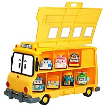 SILVERLIT Robocar Poli School Bus School B Carry Case ( Can carry 14 Poli Cars )