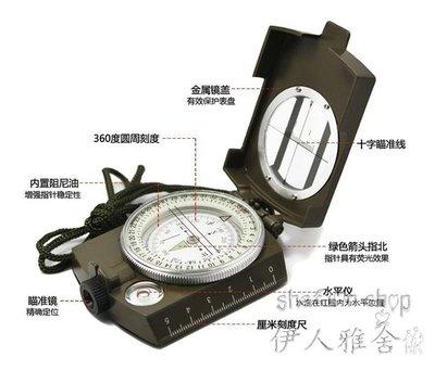 多功能專業指南針戶外鑰匙扣定向越野風水美軍自動地質羅盤    SQ10073