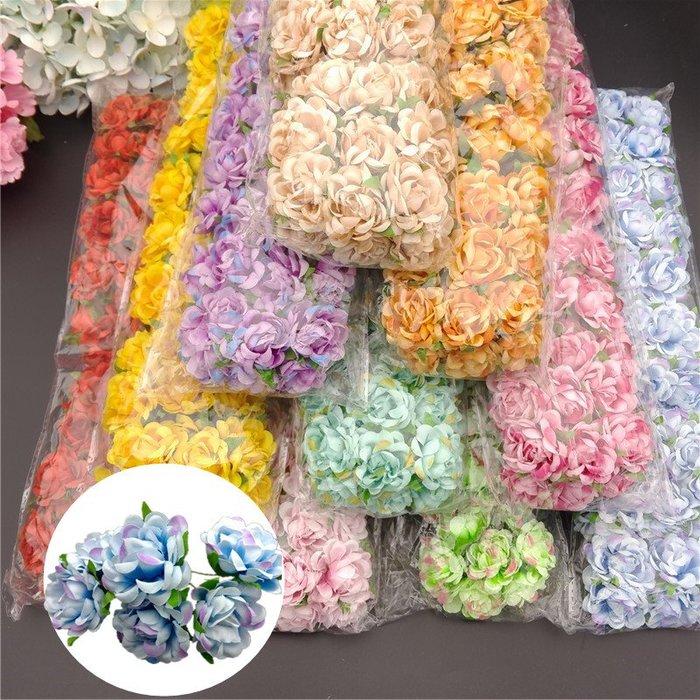 福福百貨~花朵飾品太陽花小玫瑰花飾品手工DIY花環裝飾花苞仿真髮飾花朵~一包60朵