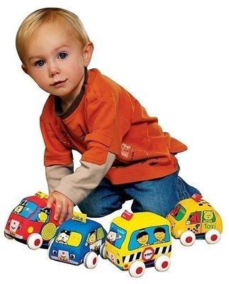 ☆天才老爸☆→美國【K's Kids 奇智奇思】Pull-Back Autos 趣味迴力車組→布書 彌月禮盒 費雪