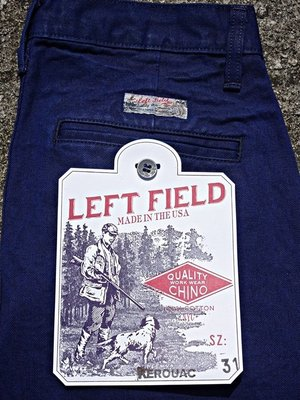 美國製手工Left Field 12oz French Blue Selvedge Kerouac Chino 法國藍染